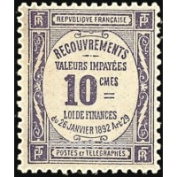 TAXE 044 ** A.GERBER Philatélie Timbre de France - Colonies - Dom tom