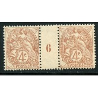 FR1563 -110 -* - Millésime 6 - 1906 - Point dans le 4 A.GERBER Philatélie Timbre de France - Colonies - Dom tom