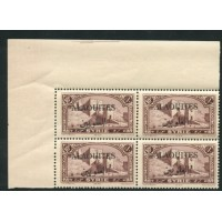 ALA014-33-**-Surch arabe - 2 points au lieu de 4 - TAN - Case 7 - Bloc de 4 A.GERBER Philatélie Timbre de France - Colonies - Do