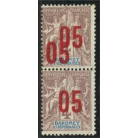 DA001-34a-*-Double surcharge - TAN  A.GERBER Philatélie Timbre de France - Colonies - Dom tom