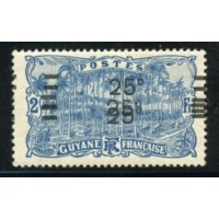 GUY004-98b-*-Triple surcharge  A.GERBER Philatélie Timbre de France - Colonies - Dom tom