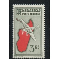 MAD016-PA 5A-**-Avion avec sac postal - Case 28 A.GERBER Philatélie Timbre de France - Colonies - Dom tom