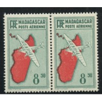 "MAD017-PA 9-**-Trait sous le ""s"" de poste - TAN - Case 32 A.GERBER Philatélie Timbre de France - Colonies - Dom tom"
