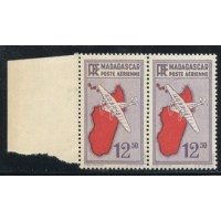 "MAD019-PA 11-**-Trait sous le ""s"" de poste - TAN - Case 32 A.GERBER Philatélie Timbre de France - Colonies - Dom tom"