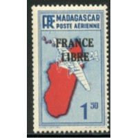 MAD041-PA 45-**-Trait sous le F de RF  A.GERBER Philatélie Timbre de France - Colonies - Dom tom