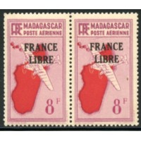 MAD042-PA 47-**-Trait sous le S de Postes - Case 32 - TAN  A.GERBER Philatélie Timbre de France - Colonies - Dom tom
