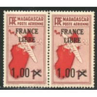 MAD045-PA 52-**-Trait sous le S de Postes - Case 32 - TAN  A.GERBER Philatélie Timbre de France - Colonies - Dom tom