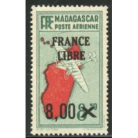 MAD046-PA 54-**-Trait sous le S de Postes - Case 32 A.GERBER Philatélie Timbre de France - Colonies - Dom tom